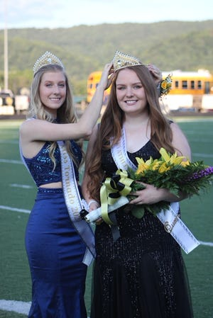 Aly Smith was crowned Keyser High School Athletic Queen Friday prior to kick off at Keyser's first home game of the season. Smith was crowned by last year's Athletic Queen, Abby Spurling.