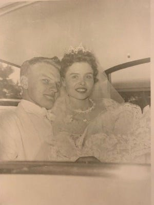 The couple in 1956.
