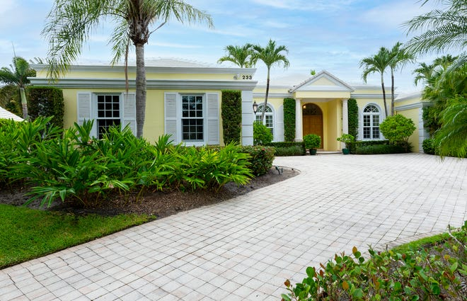 A house at 233 Miraflores Drive on Palm Beach's North End changed hands for $7.23 million in August and was immediately relisted at a higher price.