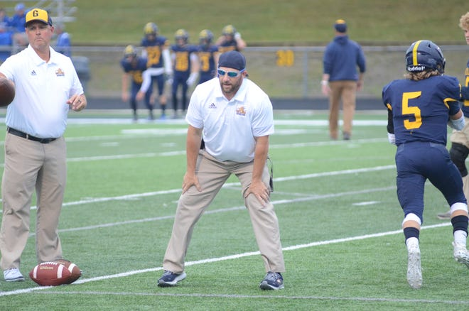 Gaylord football gets their first win of the season against Arthur Hill. The win is head coach DJ Szymoniak's first with the Blue Devils.