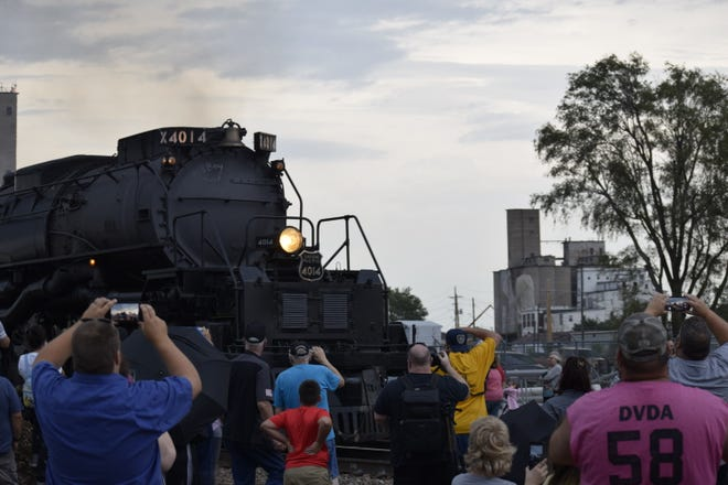 Many had their phones and cameras out to capture the experience of the Union Pacific Big Boy 4014 coming into Salina. The train made an overnight stop in the city beginning Thursday.