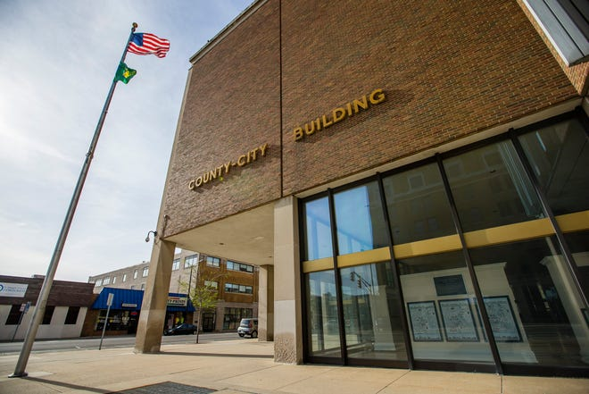 The exterior of the County-City Building Tuesday, April 23, 2019 in downtown South Bend.