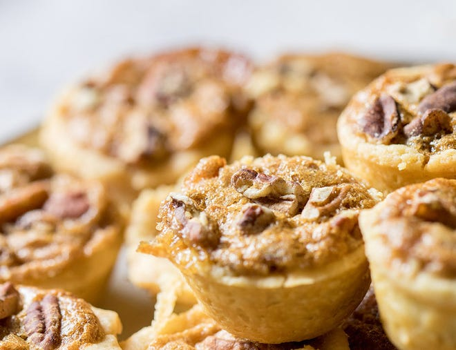 """""""Southern Sugar"""" by Belinda Smith-Sullivan includes a recipe for pecan tassies. (Courtesy of Gibbs Smith)"""