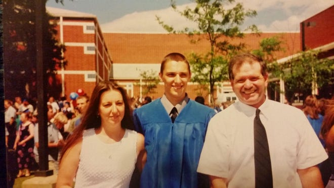 Bryan Mace with his mother, Chrissy Bertelli and step dad, Carlo Bertelli.