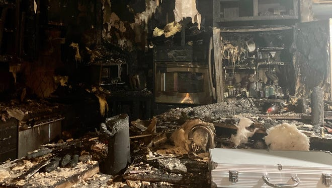 Local veteran Ben Hutchins' home was destroyed by a house fire. He'd rather support go to the fire department that responded.