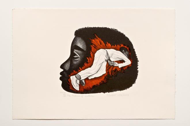 Tortura de madres, por Elizabeth Catlett.  1970/2003 litografías, segunda edición 25/25 15