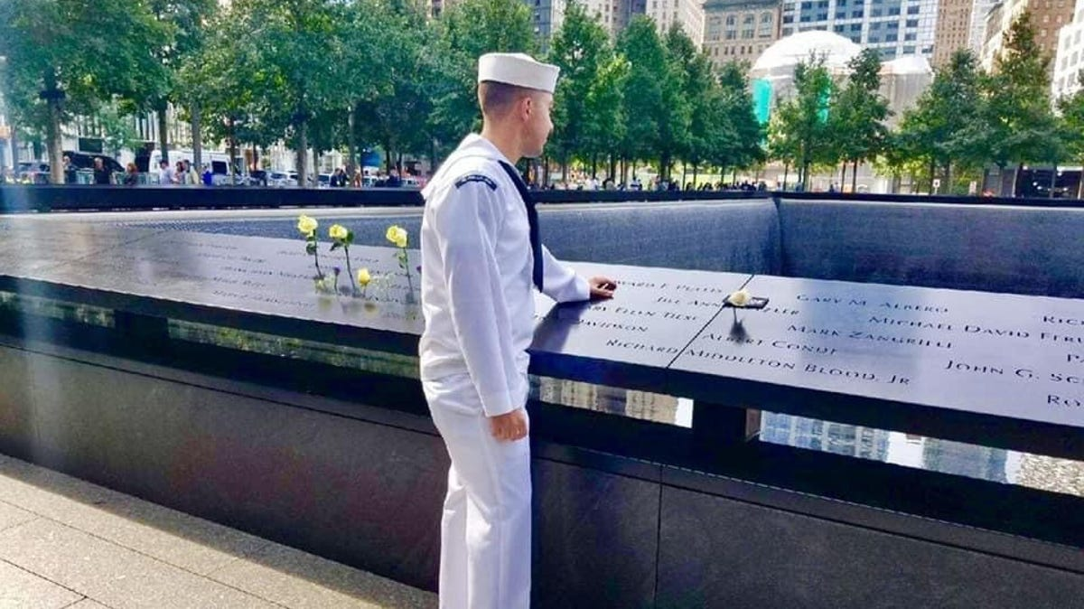 Years after he lost his dad on 9/11, a Navy sailor inspires his shipmates every Sept. 11