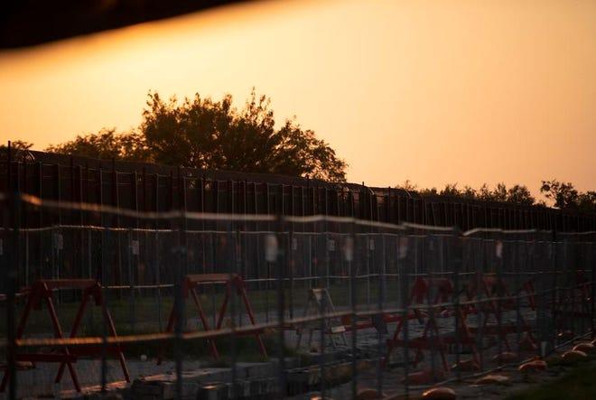 A border wall near the U.S. and Mexico border in Del Rio on July 22, 2021.