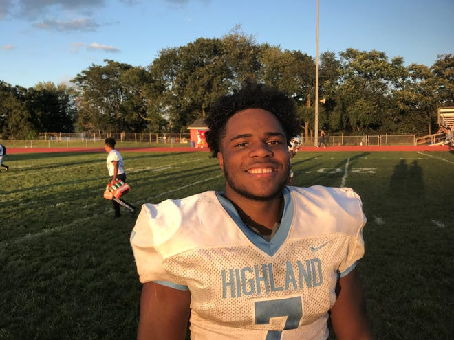 Highland's Angelo Rodriguez has been a huge hit so far with the Tartans as this football version of A-Rod has rushed for nine touchdowns in his first two games.