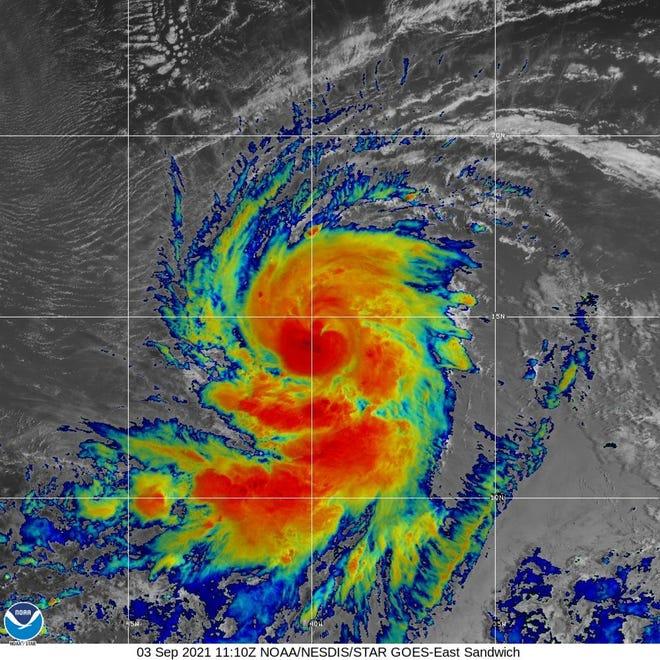 Hurricane Larry 8 a.m. Sept. 3, 2021.