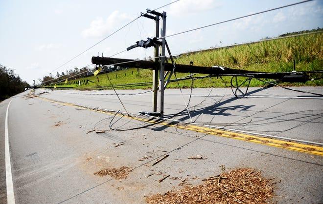 Damage from Hurricane Ida, photographed Thursday, Sept. 2, 2021, in Louisiana.