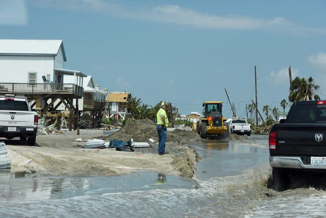 Damage from Hurricane Ida, photographed Thursday, Sept. 2, 2021, in Grand Isle, Louisiana.