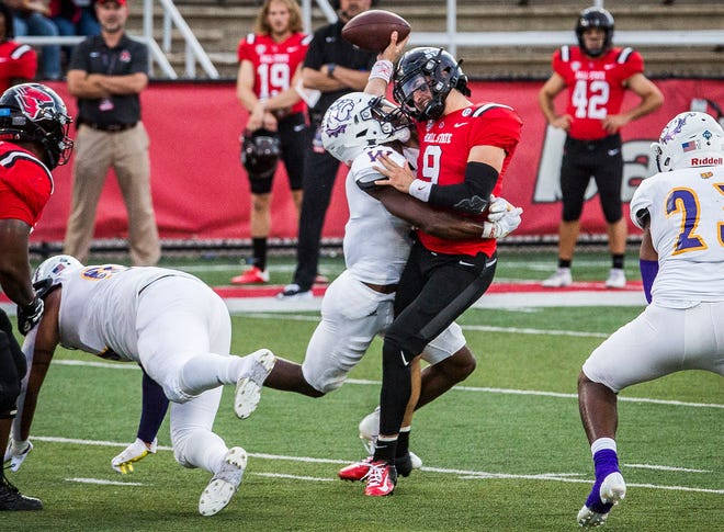 Ball State faces off against Western Illinois at Scheumann Stadium Thursday, Sept. 2, 2021.