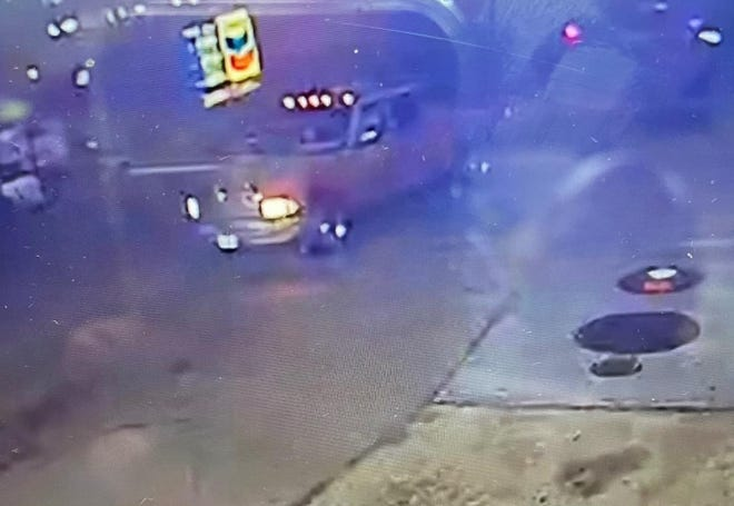 Cathedral City police say that this Dodge Ram truck was involved in a hit and run Thursday night that left one man in critical condition.