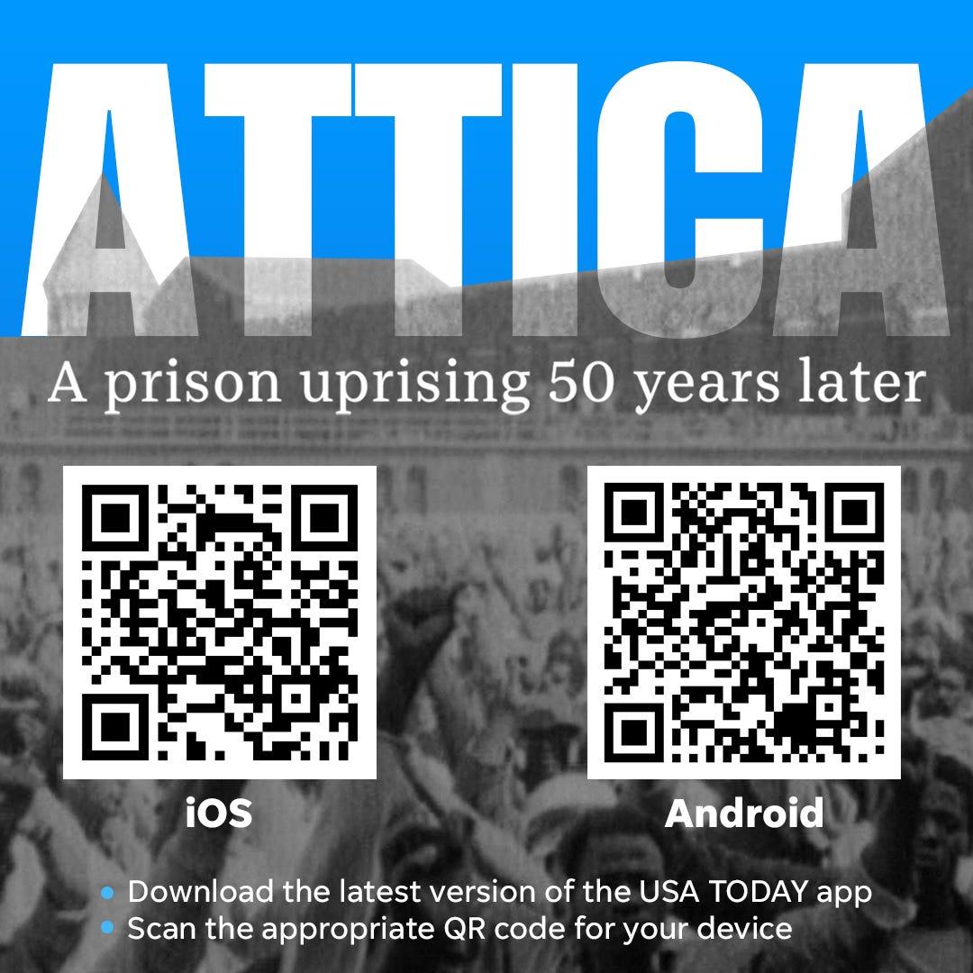 Attica AR experience QR codes