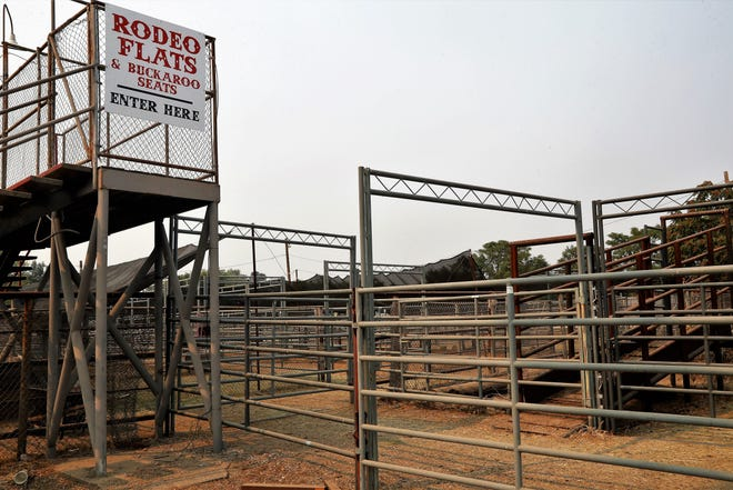 Redding officials and the McConnell Foundation are discussing the sale of eight high-profile parcels of city property, including the Redding Rodeo arena, shown here on Aug. 27, 2021.
