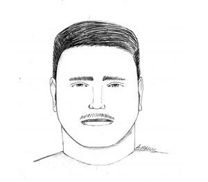 A composite sketch of the suspect in an alleged assault on a bike path west of Kimball Road in Ventura on Wednesday, Sept. 1, 2021.