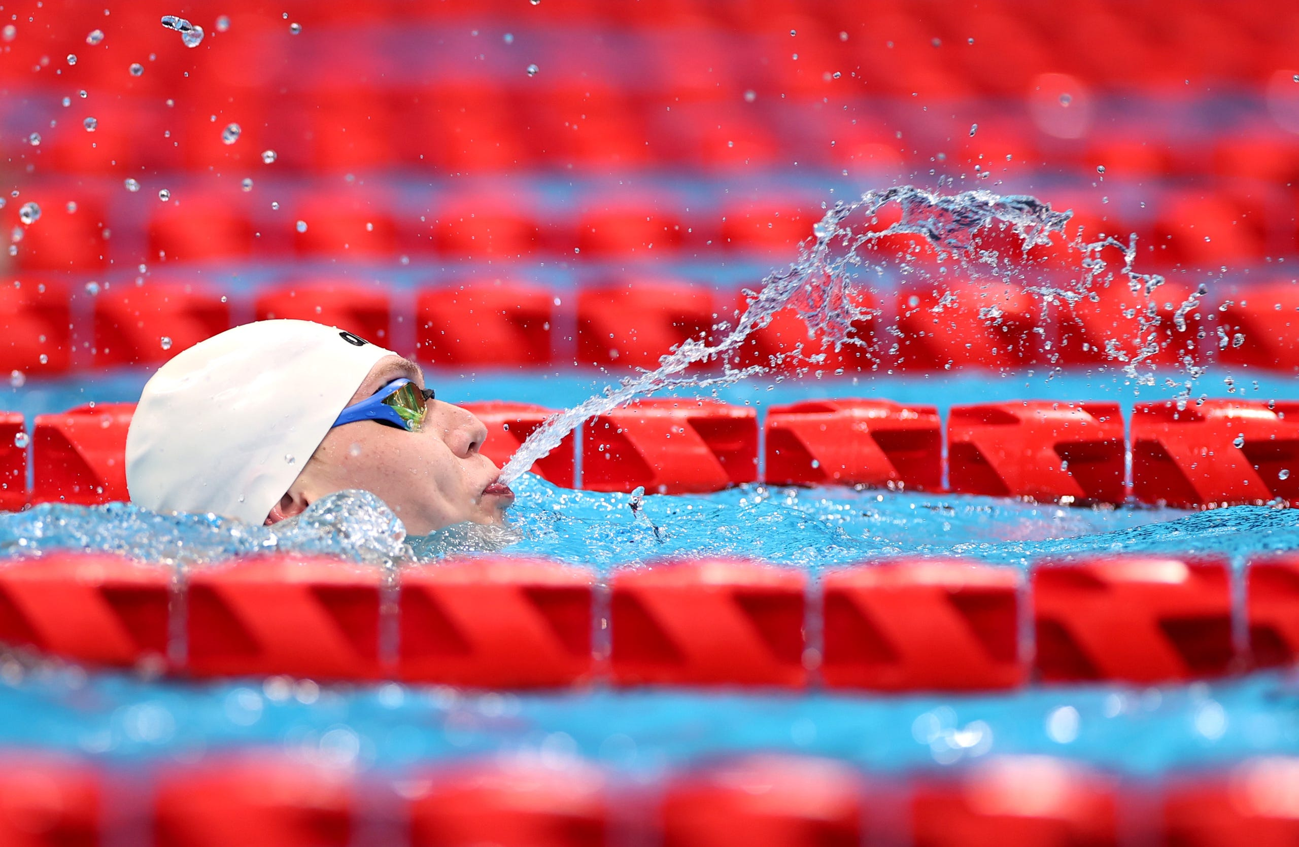 Sept. 3: Andrii Trusov of team Ukraine competes in the Men's 50m butterfly final - S7 on day 10 of the Tokyo 2020 Paralympic Games at Tokyo Aquatics Centre.