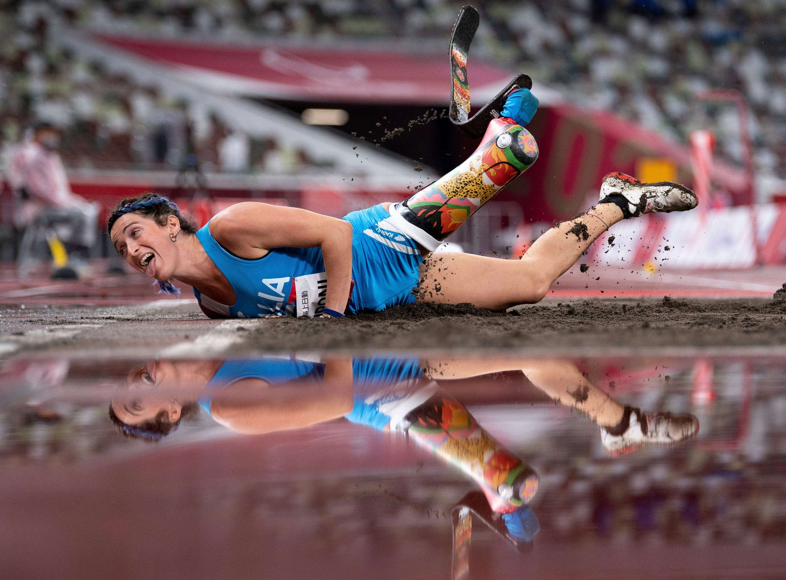 Sept. 2: Martina Caironi ITA competes in the Women's Long Jump - T42 Athletics Final at the Olympic Stadium during the Tokyo 2020 Paralympic Games.