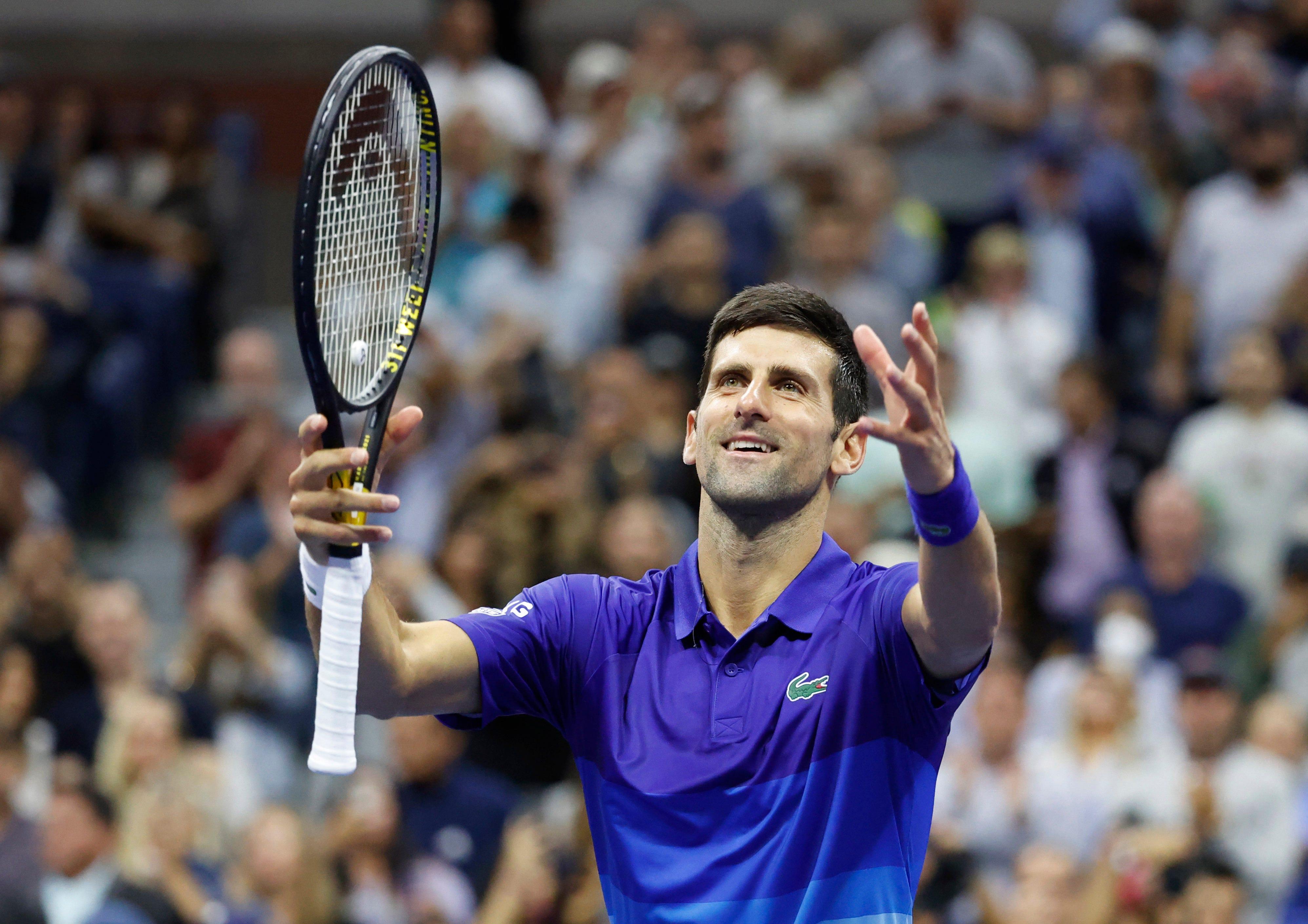 Novak Djokovic s magic number? Five. That s how many wins he needs for calendar-year Grand Slam.