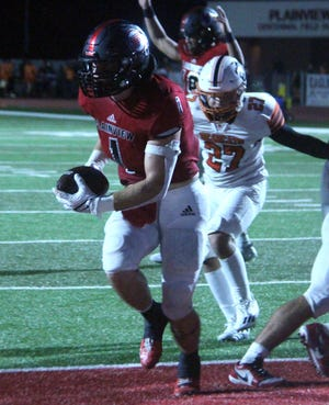 Plainview's Jeston Gilliam scored a touchdown Friday night in a 21-13 setback to Tuttle.