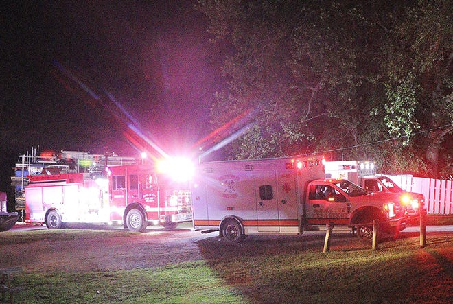 Mifflin Township Fire Department and EMS on scene of a water rescue at the Charles Mill Lake Marina on Saturday.
