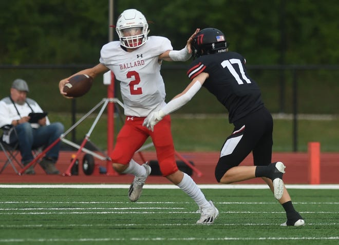 Ballard's Ashton Hermann is off to an amazing start to his first season a the starting quarterback for the Bomber football team. The all-state basketball standout is averaging 245 total yards per game and has accounted for 12 touchdowns.