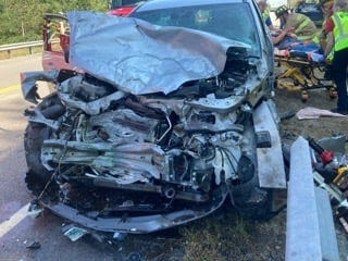 Rochester police responded to a three-car accident Saturday, Sept. 4, 2021, on Farmington Road in which all the vehicles sustained serious damage.