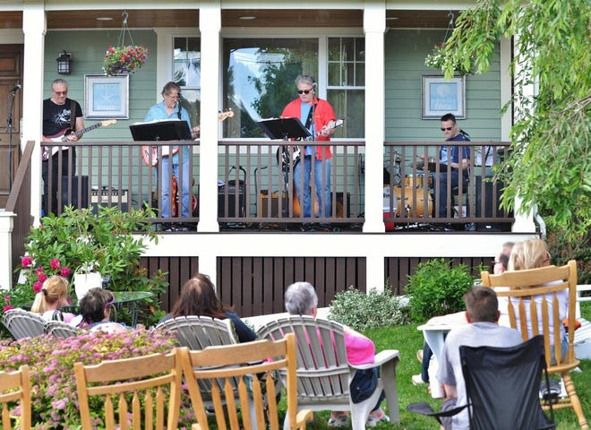 The band Tearin' Up Jake of Boston plays during PorchFest Quincy in 2019.