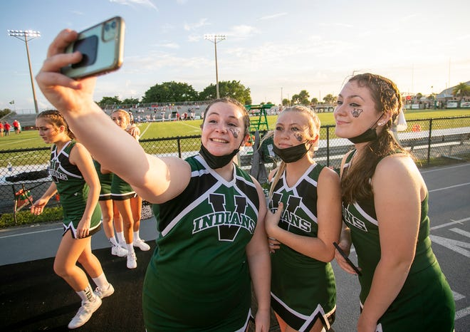 Venice High cheerleaders have had plenty to cheer about early in the high school football season.