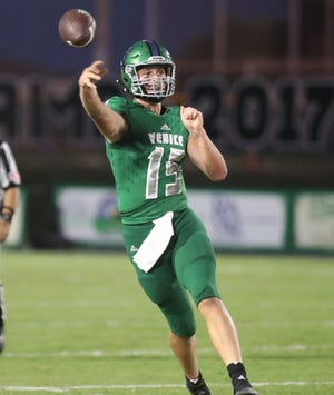 Quarterback Ryan Browne has led Venice High to a 2-0 record and the top spot in the Herald-Tribune football rankings for large school. MATT HOUSTON/HERALD-TRIBUNE