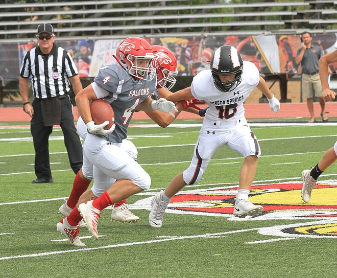Brayden Clark and the Constantine Falcons remain second ranked in the newest Division 6 AP football poll.
