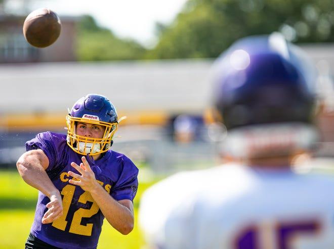 Lake Weir High School quarterback Manny Geisel threw the game-winning touchdown pass Friday.