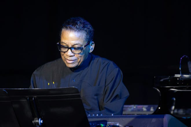 Herbie Hancock performs on the Chase Soundstage at the Detroit Marriott during the Detroit Jazz Festival Friday, Sept. 3, 2021.