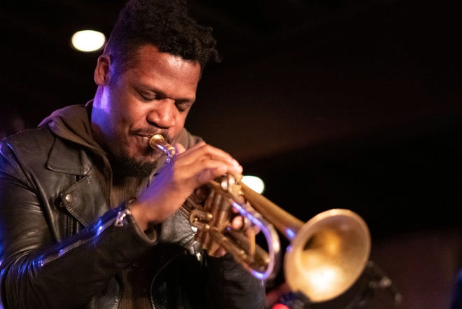 Keyon Harrold performs with the Miles Electric Band at the Miles Davis House at SXSW on March 15, 2019 in Austin, Texas.  (Photo by Earl Gibson III/Getty Images)