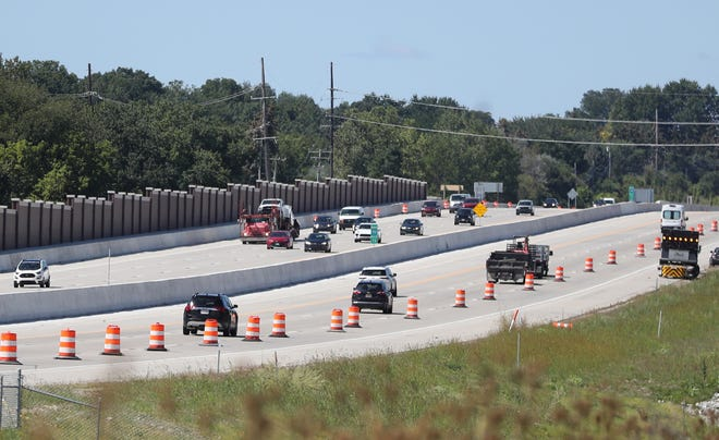 Troy residents are not happy about the traffic noise along the North and Southbound lanes of 75 and want sound barriers along the stretch of the highway behind their homes. Traffic moves along the freeway on September 2, 2021.