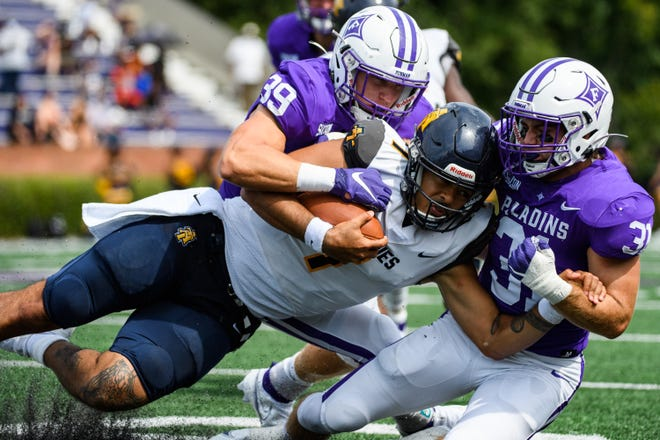 Furman's defense, shown in an earlier game, earned its first shutout in 17 seasons on Saturday at Tennessee Tech.