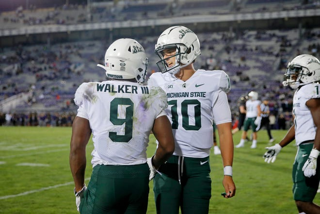 All eyes will be on Kenneth Walker and Payton Thorne on Saturday at Spartan Stadium.