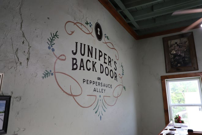 Juniper's Back Door opened its doors Thursday in Calico Rock, Arkansas. The new speakeasy is located on Peppersauce Alley at the edge of Calico's ghost town.