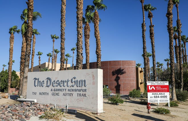 The Desert Sun building is seen with a for sale or lease sign out front facing North Gene Autry Trail, Friday, Sept. 3, 2021, in Palm Springs.
