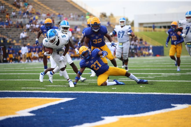 The University of West Florida football team earned its second win of a Division I opponent following its 42-36 win at McNeese State on Sept. 4, 2021 from Cowboys Stadium.