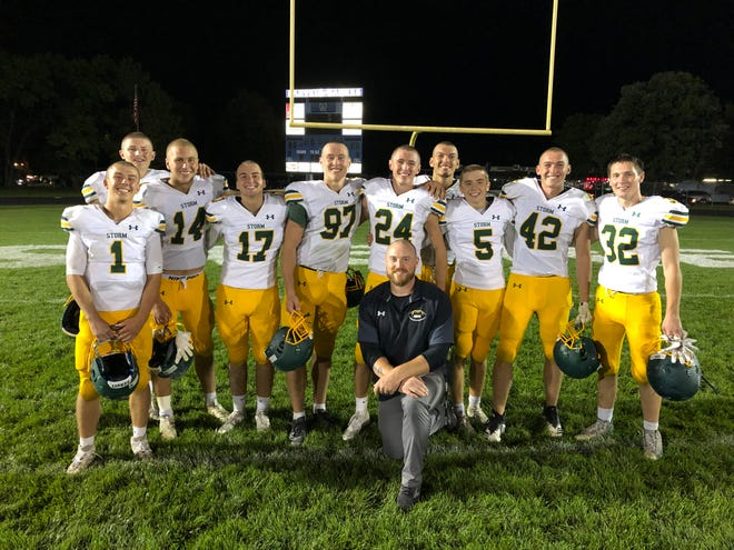 The Sauk Rapids-Rice football senior class, and an assistant coach, shaved their heads to raise awareness of cancer as many of the players have been effected by this disease in different ways.