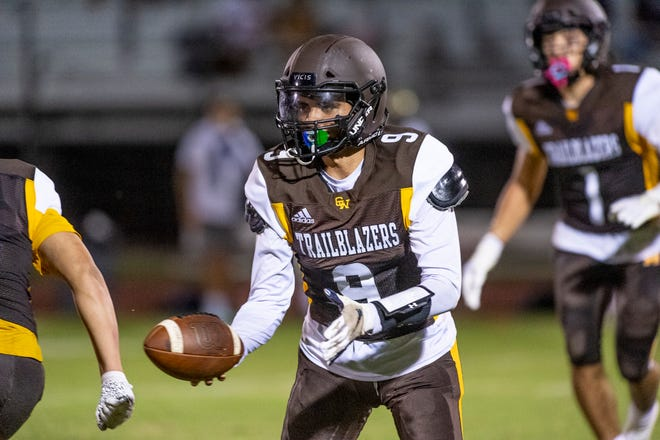 Golden West hosts Monache in a non-league high school football game  on Friday, September 3, 2021.