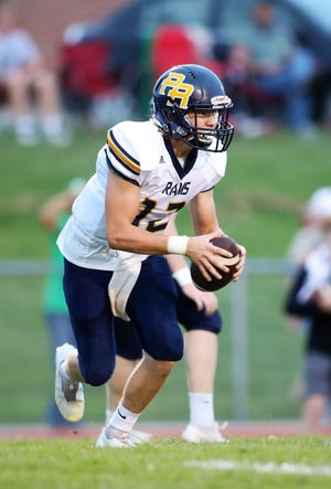 Pleasant Ridge quarterback Cooper Beying is shown carrying the ball in the Rams' 24-22 win at Jefferson County North Friday.