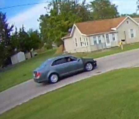 The Michigan State Police provided this photo of suspect vehicle involved in multiple larcenies on E. Erie Rd.