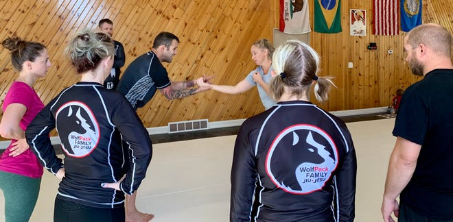 Wolfpack Family Jiujitsu hosted a self-defense seminar Saturday featuring Joel and Megan Bouhey of Valley of the Sun Jiujitsu in Ketcham, Idaho. All proceeds went to American Foundation for Suicide Prevention Aberdeen.