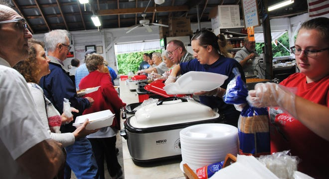 Hot roast beef or pork dinners were on tap Sunday at the Berlin Grove for the annual Community Picnic. Music, food and hand-dipped ice cream, along with bingo were featured during Sunday and Monday activities.
