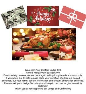 Wareham-New Bedford Lodge of Elks 73 Holiday Drive.