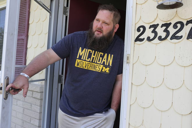 Steve Kodlowski was one of many Flat Rock residents awaiting word from officials on whether they would need to evacuate their homes due to a chemical spill in the area Sunday, Sept. 5, 2021.