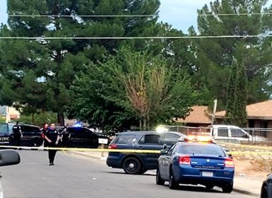 Las Cruces police respond to the 1000 block of Juniper Avenue on Sunday, Sept. 5, after a man's body was found on the sidewalk.
